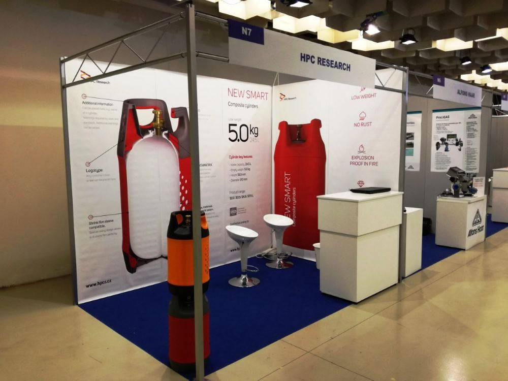 Композитные газовые баллоны HPC Research на выставке во Флоренции