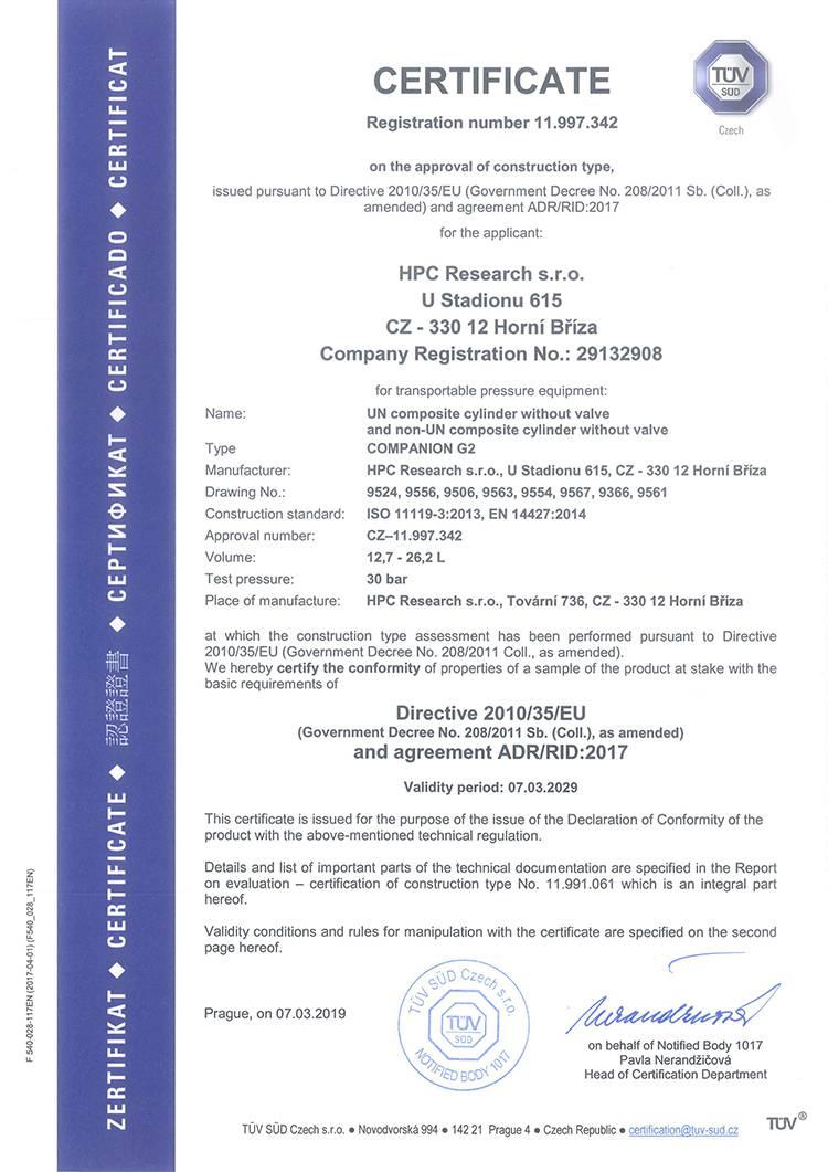 TYPE CERTIFICATE_11.997.342_COMPANION G2_REV.1_EN_Страница_1