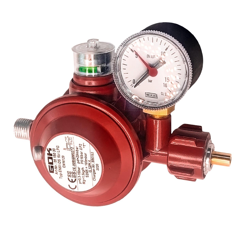 Регулятор давления газа GOK EN61-DS 1,5кг/час 29мбар KLFxG1/4LH-KN ТАЕ UEDS