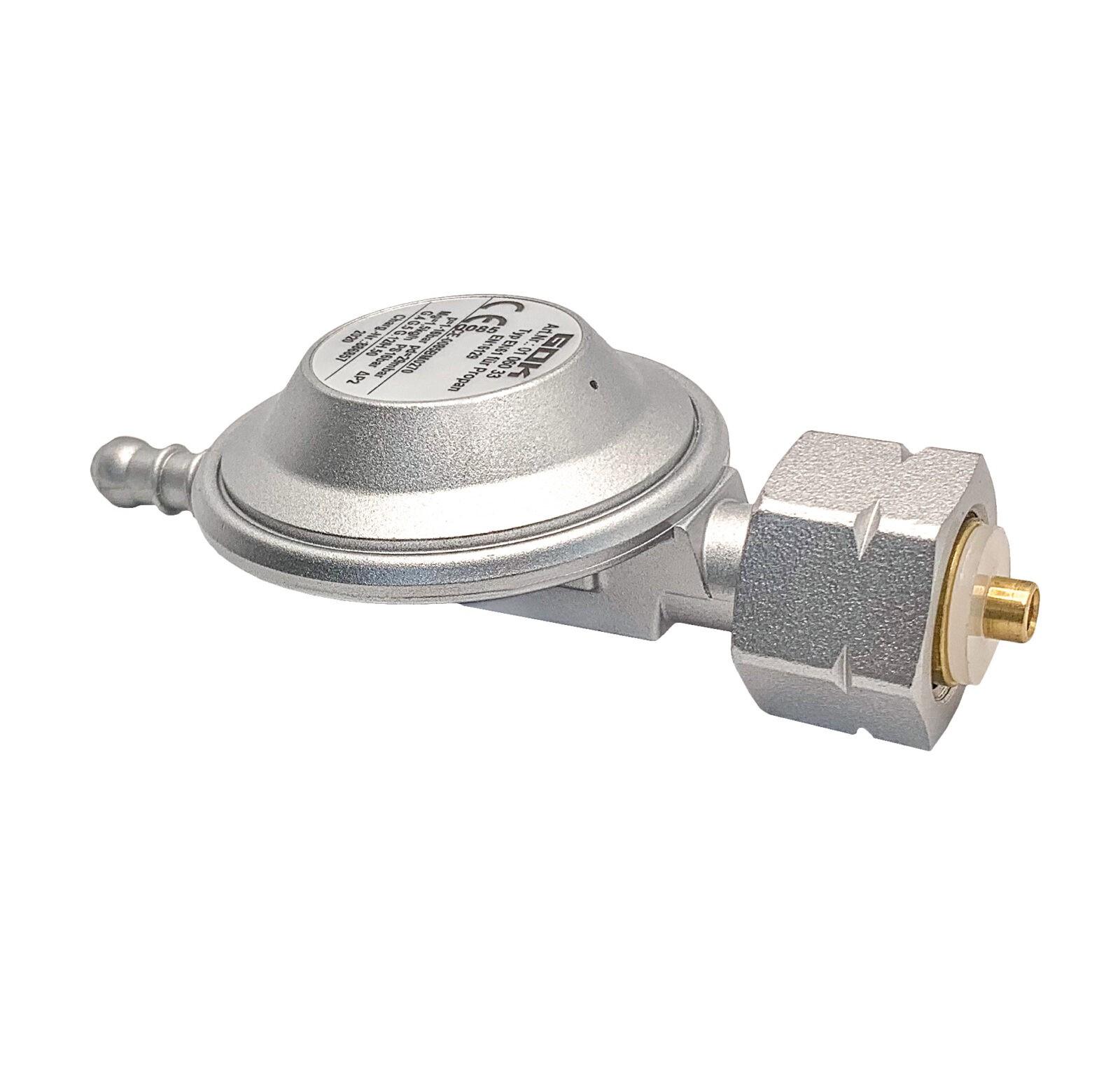 Регулятор давления газа GOK 29мбар 1,5 кг/час Kombi x наконечник Ø8 мм под хомут