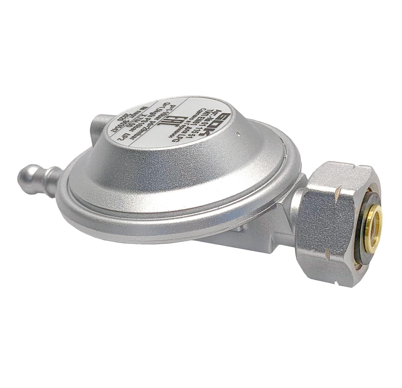 Регулятор давления газа GOK 29мбар 1,5 кг/час Shell x наконечник Ø8 мм под хомут