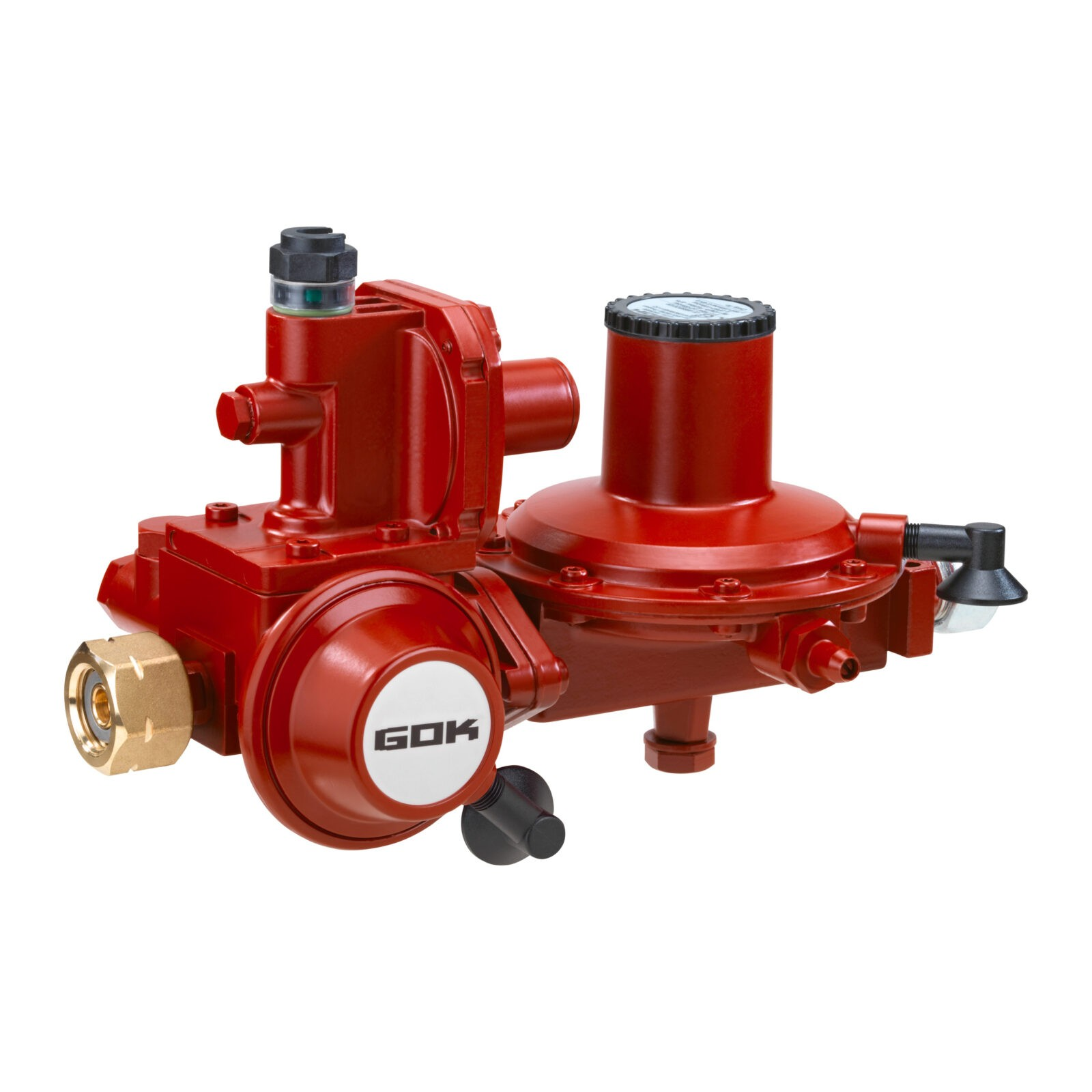 Регулятор давления газа GOK двухступенчатый 12кг/час 50мбар GF x G1/2 LH-KN ПСК ПЗК АП